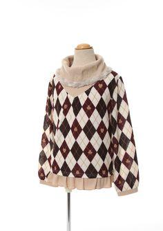 axes femme online shop|【OUTLET】(キッズ)刺繍入りアーガイル柄プルオーバー