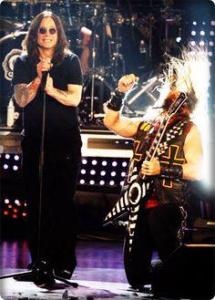 Ozzy Osbourne and Zakk Wylde.......