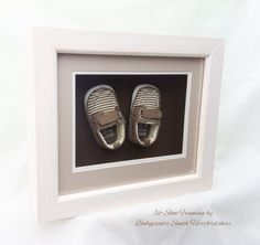 The cutest 1st shoes in a bespoke frame from Babyprints.co.uk