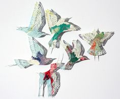 Map Paper Birds by Claire Brewster