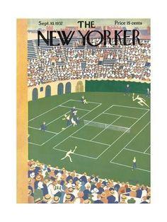 the new yorker tennis cover ~ september, 1932 New Yorker Covers, The New Yorker, Tennis Magazine, Tennis Posters, Mystic Messenger Memes, Tennis Workout, Vintage Tennis, Vintage Sport, Spring Landscape