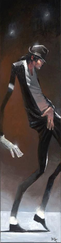 Justin Bua~new Michael Jackson tribute painting!