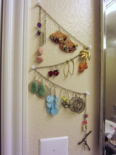 Broken Chain Earring Display by dixiediy, via Flickr