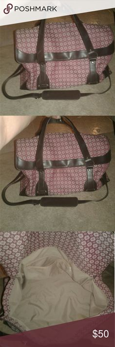 Urban Outfitters Huge purple travel luggage bag Sale Ends Monday  Posting measurements soon Huge luggage travel suitcase Carry on bag Purple Boho design  Can carry as a shoulder bag or by hand Has shoulder strap  Mint condition  Except the white Scuff Got at urban outfitters Urban Outfitters Bags Travel Bags