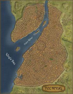 The city of Dolmvay in a satellite style. City of Dolmvay sat style Fantasy City Map, Fantasy World Map, Fantasy Castle, Landscape Model, Fantasy Landscape, Antique Maps, Vintage Maps, City Layout, Alien Concept Art