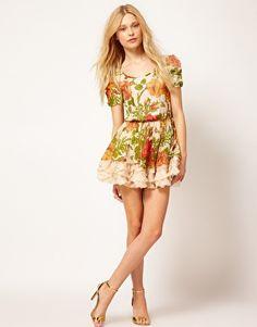 Image 4 ofTraffic People Rambling Rose Mini Dress