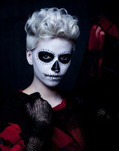 cool skull make up