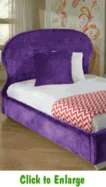 Delightful Purple Marilyn Full Bed By Standard At Furniture Warehouse | The $399 Sofa  Store | Nashville