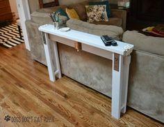 Un Tavolino Da Divano Fai Da Te Per Un Vero Momento Di Relax! 13 Idee...  Narrow Console TableEntryway TablesDiy Sofa ...