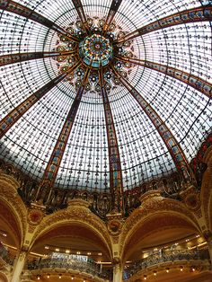 Paris, Galeries Lafayette, Tiffany Skylight