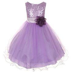Flower Girls Dress Sequin Glitter Beaded Dress Wedding Prom Bridesmaid Lavender Size Months) BNY Corner http://www.amazon.com/dp/B00N4KOOZK/ref=cm_sw_r_pi_dp_rjHxvb0KPH215