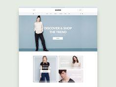 Bonfire – E-commerce Website Home PSD