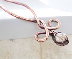 Celtic knot hair fork pin with AB finish clear by IngoDesign, $22.00