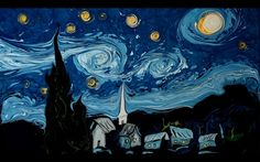Artist Recreates Van Gogh's 'Starry Night' and 'Self Portrait' by Swirling Paint in Water