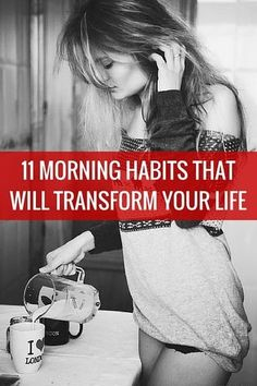 11 morning habits that will transform your life Your morning can be that make-or-break time that sets you up for a good day or a bad day. Here are 11 habits you can establish that will put you on the path of stringing together good day after good day. Health And Beauty, Health And Wellness, Health Tips, Health Fitness, Women's Health, Fitness Gurls, Good Habits, Healthy Habits, Healthy Meals