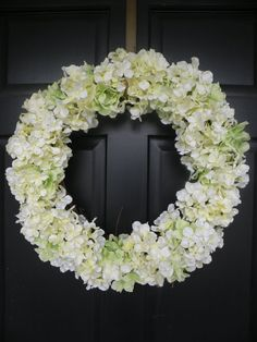 White Hydrangea Spring Wreath