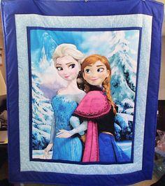 Disney Frozen Blue Snowflake Anna and Elsa by Lindashemstitching