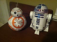 *See my new BB 8 Model* Download the files to make your own here: BB-8 papercraft R2D2 papercraft