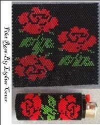 Filet Rose Lighter Cover-Big