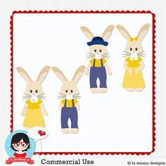 Template & Clip Art - Bunny by Fa Maura
