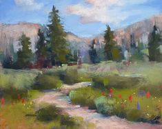 Painting My World: Pastel Demo....Colorado Landscape with Wildflowers