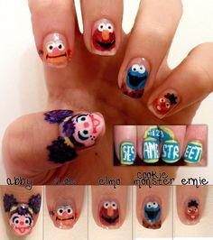 sesame street nails! reese would freak!