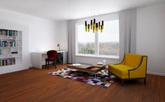 RoomReveal - colorful home office by Altro Studio Barbara Kamińska