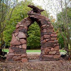 Artistic stonework arch...created by Michael Ekerman - amazing stonework artist...