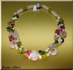 Weiteres - Frühlingscollier romantisch & verspielt - ein Designerstück von Dream-Colliers bei DaWanda