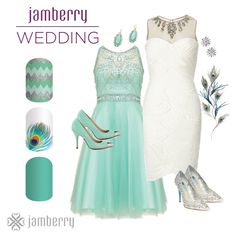 Having a modern wedding check out Jamberry's many modern designs for your perfect day ❤️