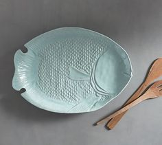 Malibu Figural Fish Serving Platter #potterybarn
