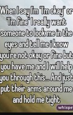 All i want...