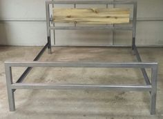 Modern Industrial Bed Frame Accented with Colorado by JevWorks, $750.00