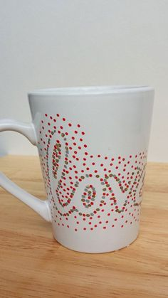 Dotted Sharpie Mug Outline