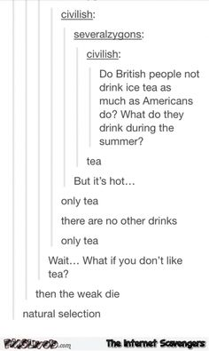 British Humour – Old Blighty in a nutshell - PMSLweb Tumblr Funny, Funny Memes, Hilarious, Funny Stuff, Great British Bake Off, Thank You Tumblr, Growing Up British, American Humor, Humor