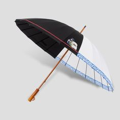 Top-Of-The-Line Retro Gintama Japan Anime Style Windproof Straight Wood Handle Outdoor Umbrella