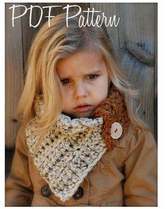Crochet PATTERNThe Aspen Cowl Toddler Child and by Thevelvetacorn
