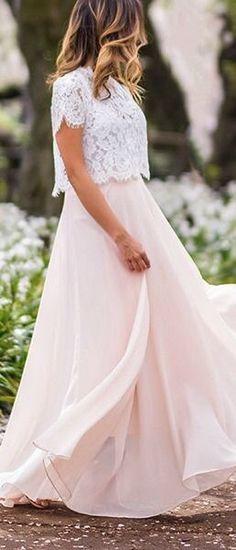 Blush & white.