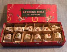 Box of 12 Japan Porcelain Christmas Bell Ornaments Orig Box | eBay  ... All 5 designs are matches. $50 + shipping