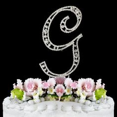 Vintage ~ Swarovski Crystal Wedding Cake Topper ~ Letter G by Elegant Bridal, http://www.amazon.com/dp/B005FN733O/ref=cm_sw_r_pi_dp_jBfmqb12THE1N
