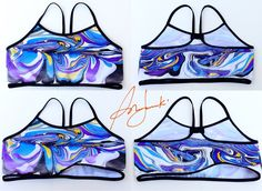 Yoga Top, Grafiti Bra, Fitness Bra, Sports Bra, Painted Crop Top, Sports Wear, Gym Top by Sunjunki on Etsy