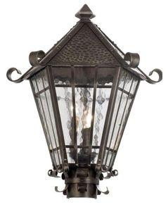 Kalco Lighting 9219 RS Three Light Outdoor Exterior Post Lantern in Rust Finish