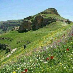 The beautiful Landscape of the Province Kurdistan, Iran.