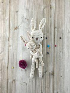Crochet Lapin SUR COMMANDE 100% Cotton Amigurumi Lapin
