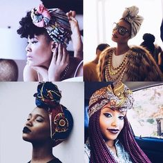 turban natural hair - Google Search