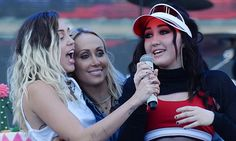 Miley and Noah Cyrus sing Happy Birthday to mom Tish | Daily Mail Online