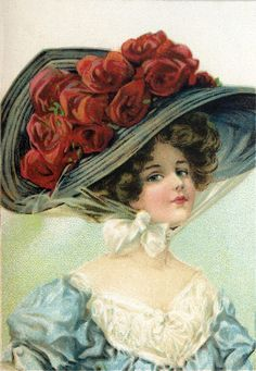 Victorian Hat Lady Image - The Graphics Fairy