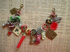 Industrial Chic Game Altered Art Mixed Media Charm Bracelet Steampunk New | eBay
