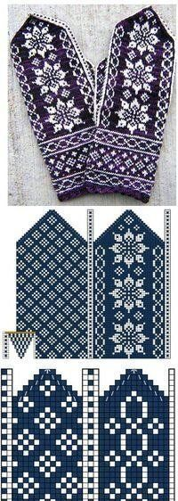 Mitten with Jacquard – 'Winter Rainbow' Knitted Mittens Pattern, Knit Mittens, Knitted Gloves, Knitting Socks, Fair Isle Knitting, Knitting Charts, Knitting Stitches, Knitting Patterns, Crochet Patterns