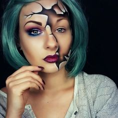Your search for eerie and spooky ghost makeup ideas ends here. We have shortlisted the most popular Ghost makeup for Halloween. Cosplay Makeup, Costume Makeup, Sfx Makeup, Mask Makeup, Face Makeup Art, Makeup Kit, Makeup Brush, Beauty Makeup, Hair Beauty
